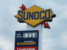 Sunoco gas station - gas prices rise yet another .20 cents per litre over night!